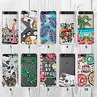 Силиконовый чехол с рисунком для Huawei Nexus 6P (new collection)