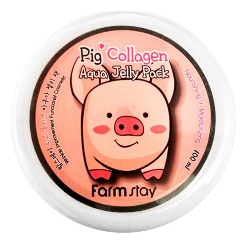 Увлажняющая маска со свиным коллагеном FarmStay Collagen Aqua Piggy Jelly Pack