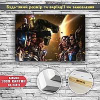 Картина постер на холсте Мстители Avengers 60х40