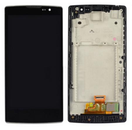 Дисплей (экран) для LG H420 Spirit с сенсором (тачскрином) и рамкой черный