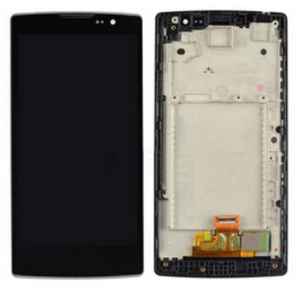 Дисплей (экран) для LG H420 Spirit с сенсором (тачскрином) и рамкой черный, фото 2