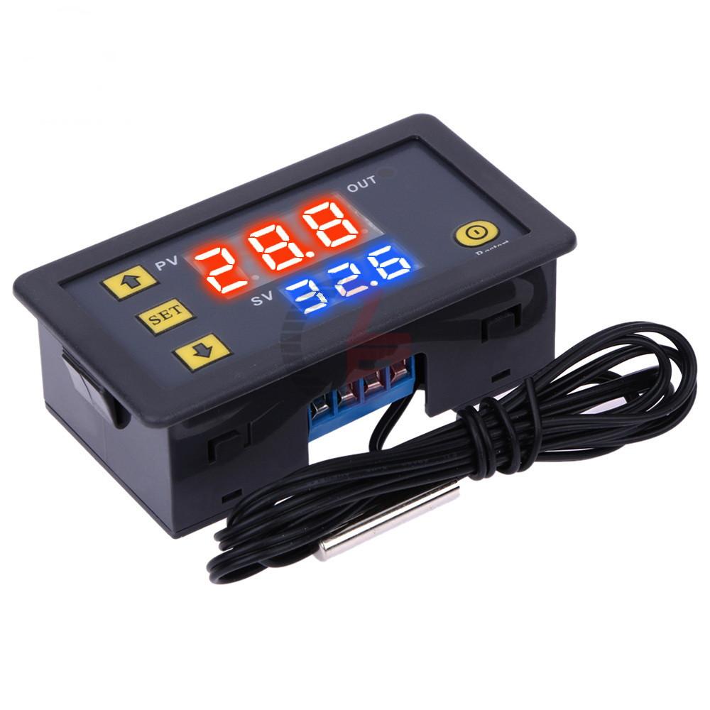 Цифровой термостат W3230 с датчиком темературы, 220 вольт