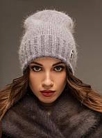 Зимняя шапка Бельгия, св.джинс (ОГ 55-58, подросток и на взрослых)