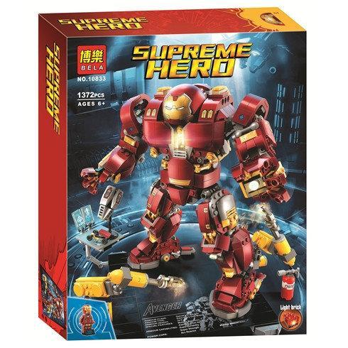 """Конструктор Bela 10833 """"Халкбастер: Эра Альтрона"""" Супер Герои, 1372 деталей. Аналог Lego Super Heroes 76105"""