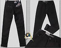 Модные мужские утеплённые зауженные джинсы с косыми карманами на подростка