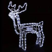 Фигура Bonita Олень светодиодный LED Белый, 112х105х18 см, от сети
