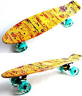 "Penny Board ""Fish Skateboards"" Yellow Palms.(Original), фото 1"