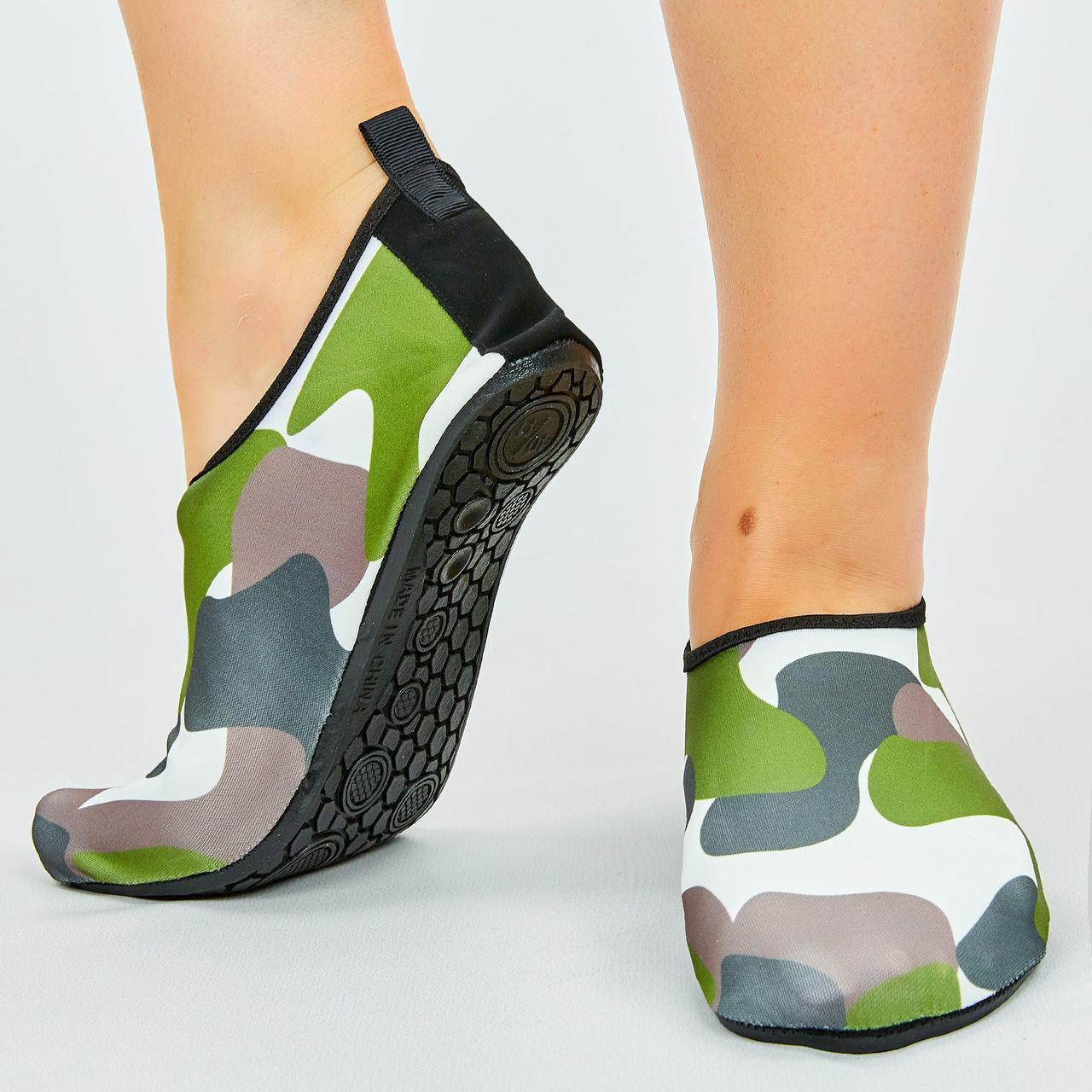 Обувь Skin Shoes для спорта и йоги Камуфляж PL-0418-BKG