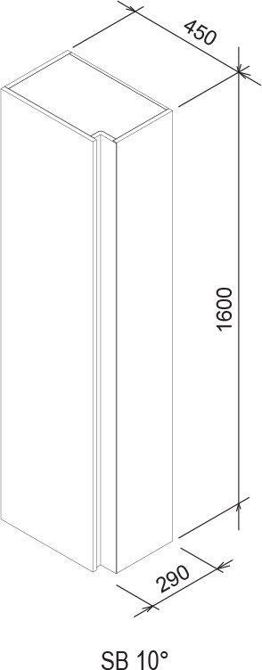Бічний пенал SB 10°