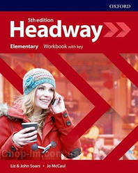 New Headway 5th Edition Elementary Workbook with key / тетрадь