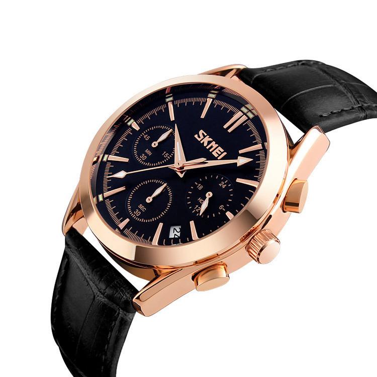 Мужские часы Skmei Prestige 9127 Black классические