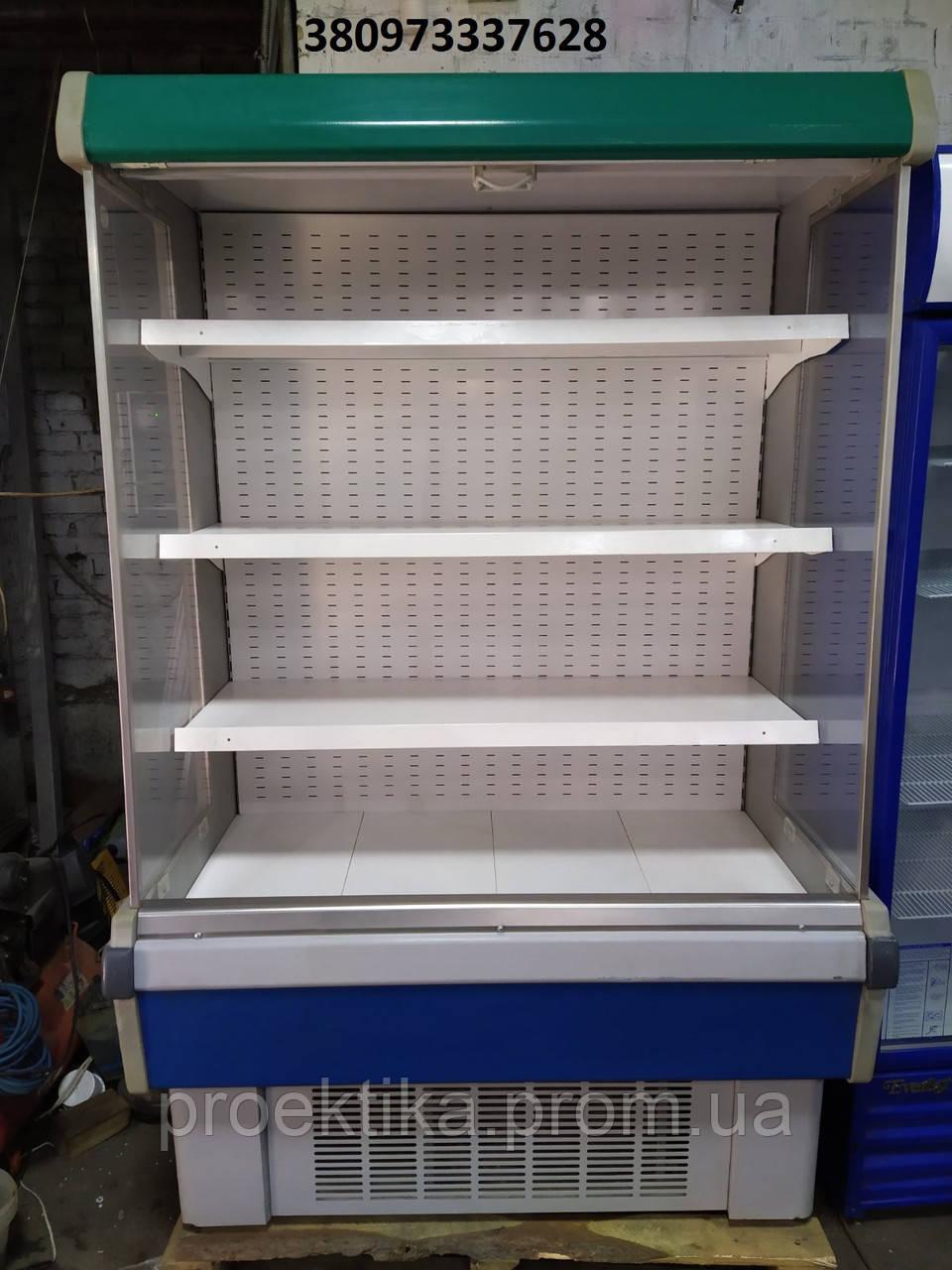 Регал Холодильный Бу, горка холодильная 1,3м бу, стеллаж холодильный