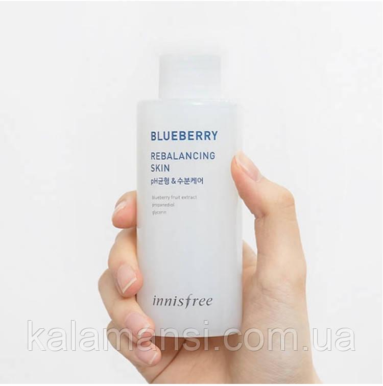 Балансирующий тонер с экстрактом черники   Innisfree   Blueberry Rebalancing skin, 150мл