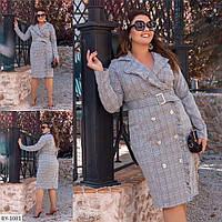 Стильное платье на запах с воланом р-ры 48-54 арт 691
