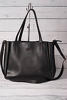 Женская сумка-шоппер, черный цвет