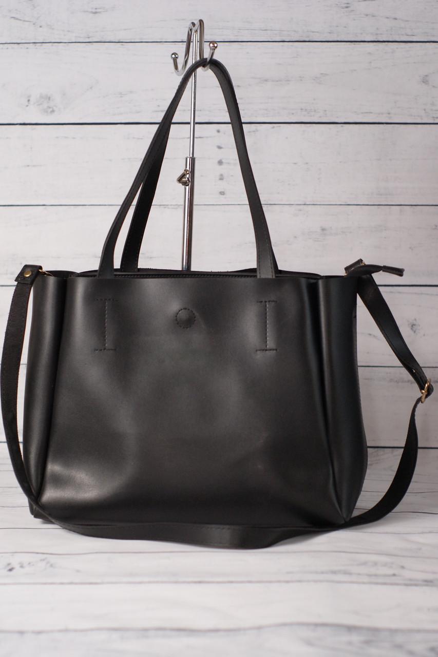 Женская сумка-шоппер, черный цвет ( код: IBG078B )
