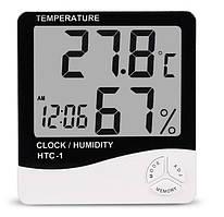 Термогигрометр-часы UKC HTC-1 Белый (hub_np2_1233)