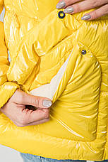 Женский пуховик KTL-253 желтого цвета, фото 2