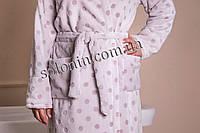 Женский махровый халат с поясом., фото 1