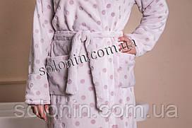 Женский махровый халат с поясом.