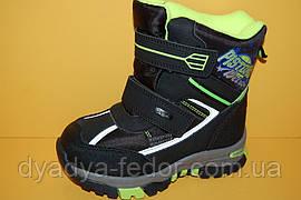 Детская зимняя обувь Термообувь Том.М Китай 3859 Для мальчиков Черный размеры 27_32