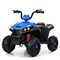 Детский электромобиль Квадроцикл M 4131 E-4, резиновые EVA колёса, амортизаторы, дитячий квадроцикл, синий