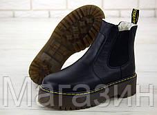 Зимние женские ботинки Dr. Martens 2976 Platform Chelsea Winter Black Доктор Мартинс Челси черные С МЕХОМ, фото 3