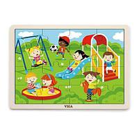 """Пазл Viga Toys """"Парк розваг"""" (51454)"""