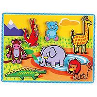 """Рамка-вкладыш Viga Toys """"Животные"""" (56435), фото 1"""