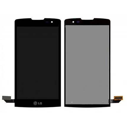 Дисплей (экран) для LG H324 Leon Y50 с сенсором (тачскрином) черный Оригинал, фото 2