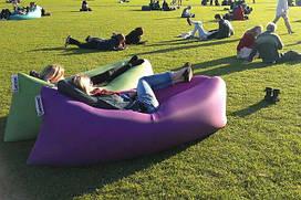 Надувний диван шезлонг LAMZAC (Фіолетовий)