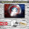 Картина постер на холсте Капитан Америка Captain America 60х40