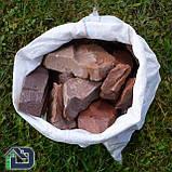 Камінь для саун та бань кварцит малиновий, фото 2