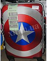 """Детский чемодан для девочек 20"""" на 4 колеса Captain America Марвел"""