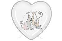Блюдо керамическое фигурное Веселая семейка кошачьих (25 см), DM530-Q