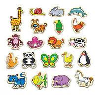 """Набор магнитных фигурок Viga Toys """"В мире животных"""", 20 шт. (58923)"""