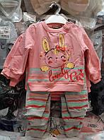 Нарядный трикотажный костюмчик для девочки