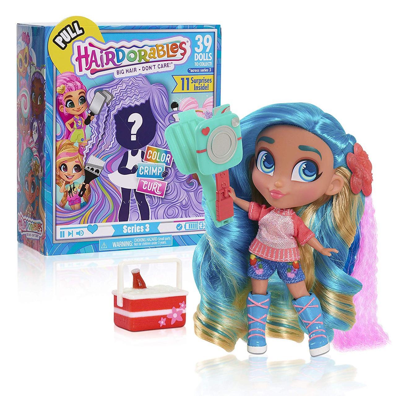 Оригинал! Hairdorables Куколка сюрприз от Just Play 3 сезон