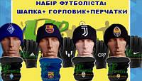 Спортивный комплект шапка горловик и перчатки