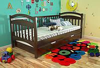Кровать детская Arbor Drev Алиса сосна 80х190, Темный орех