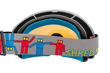 Маска гірськолижна Shred Monocle Robot Boogie Grey, фото 2