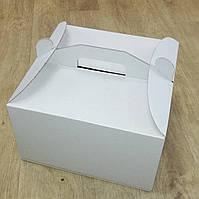 Тортовая упаковка коробка с ручкой 250х250х150