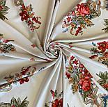 10878-2 (Вечер в парке), павлопосадский платок из вискозы с подрубкой, фото 6
