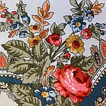 10878-2 (Вечер в парке), павлопосадский платок из вискозы с подрубкой, фото 4