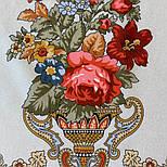 10878-2 (Вечер в парке), павлопосадский платок из вискозы с подрубкой, фото 3