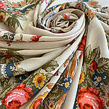 10878-2 (Вечер в парке), павлопосадский платок из вискозы с подрубкой, фото 7
