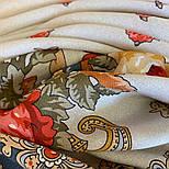 10878-2 (Вечер в парке), павлопосадский платок из вискозы с подрубкой, фото 8