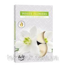Ароматические свечи таблетки BISPOL Белые цветы