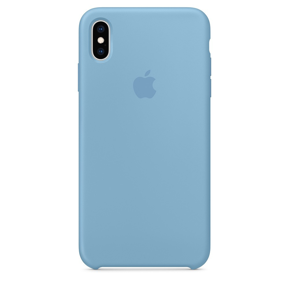 "SILICON CASE IPHONE XS/XS MAX ""CORNFLOWER"""