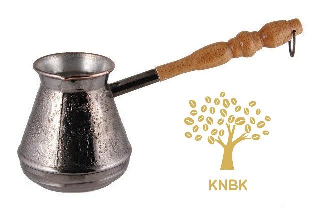 Турка (джезва) медная 400 мл. Ручка светлое дерево ООО